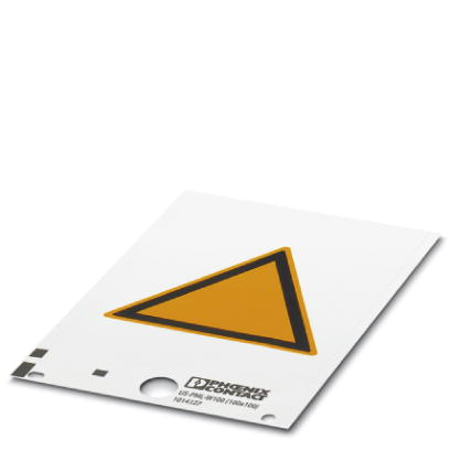 1014125 - Warning label - US-PML-W100 (25X25)!