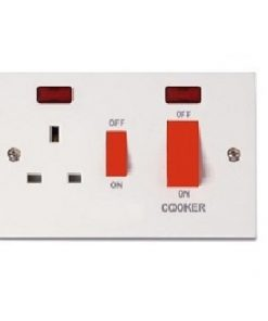 Cooker Control w/13A Socket