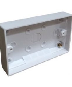 External Box Surface Mount 25mm Double w/Division