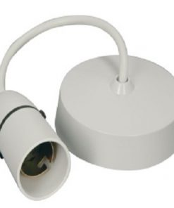 SET Ceiling Rose w/25cm Cable & E27 Lampholder