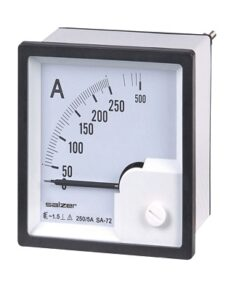 72x72 20A Analog Amperemeter Electrical Control Cabinets