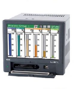 KD8 - Screen recorder KD8 with touch panel - 3 or 6 channels - RS-485 interface